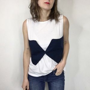 BP bustier layered tee shirt bow tie 0153